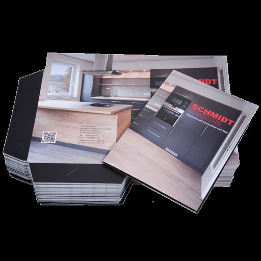 Printdesign Mappen Mappen zweiteilig mit Laschen für Produktpräsentationen, Dossiers oder andere Unterlagen