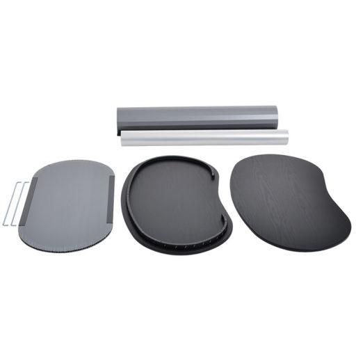 Printdesign Messetheke/Messecounter, wie abgebildet Material Druck: 450 µm Polyester-Verbund, Veredelung: Schutzlaminat (B1-zertifiziert)