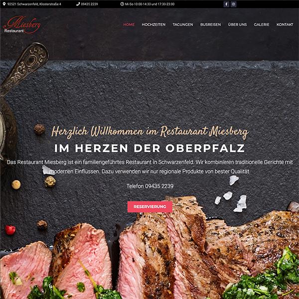 Website Restaurant Miesberg Startseite