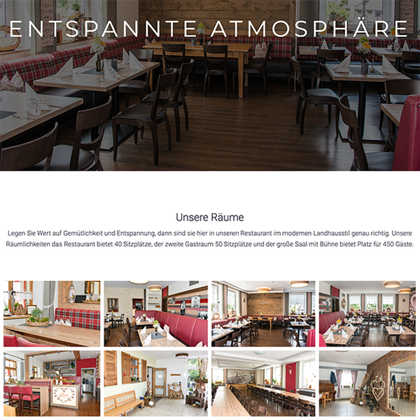Website Restaurant Miesberg WordPress