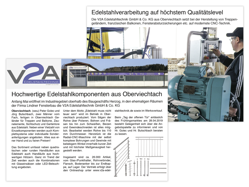Anzeige in Oberviechtach Aktuell