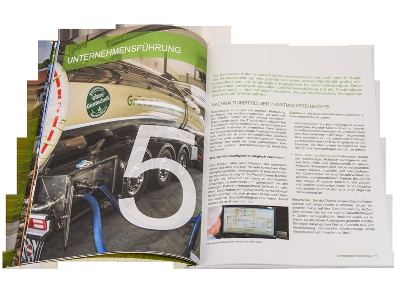 Broschüre Nachhaltigkeitsbericht