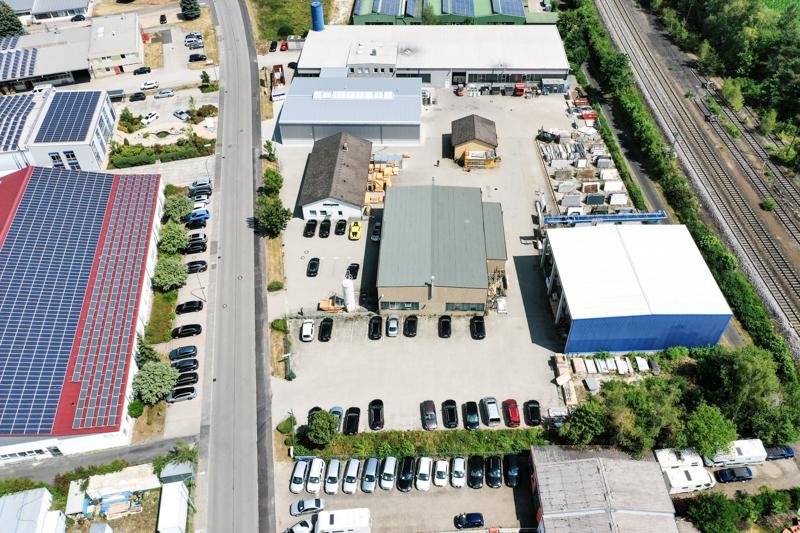 Drohnen Luftbild Grama Blend Luftbildaufnahme Industriegebiet