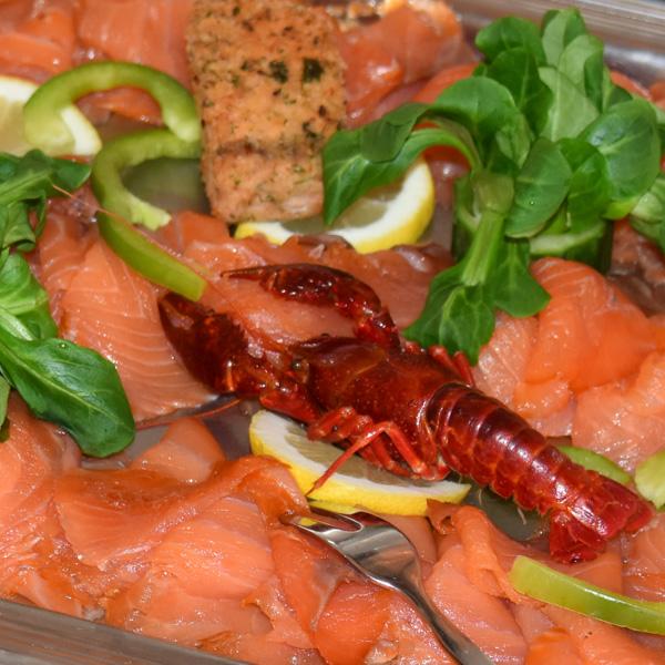 Food Fotografie Lachs und Krebs