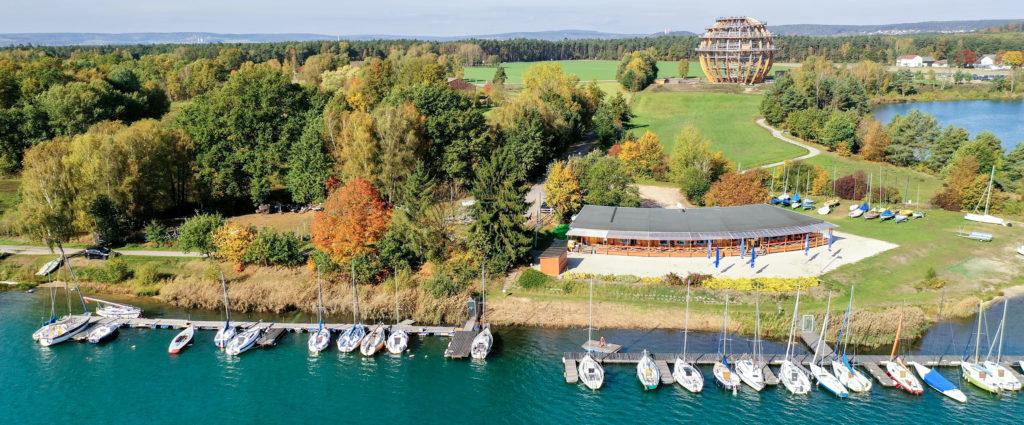 Luftbild Drohne Segelschule Steinberg
