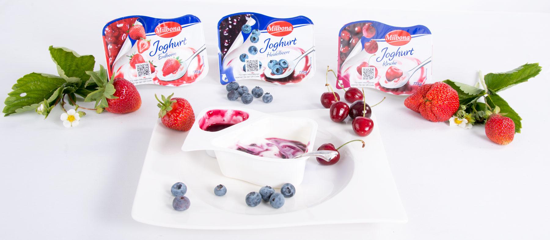 Food Fotografie Joghurt mit Fruchtecke