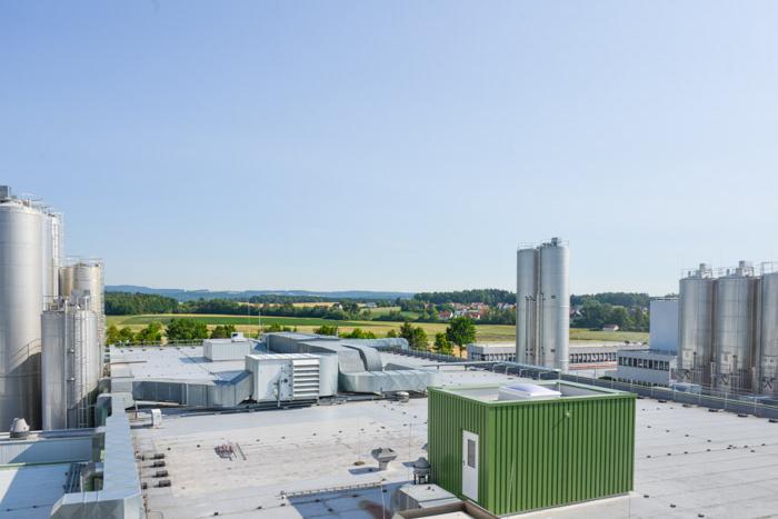 Industriefotografie über den Dächern