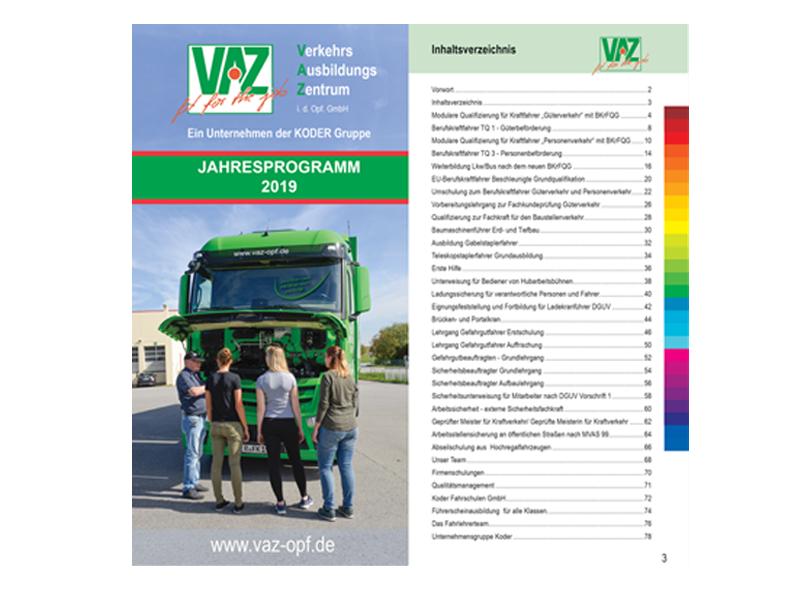 Broschüre Jahresprogramm