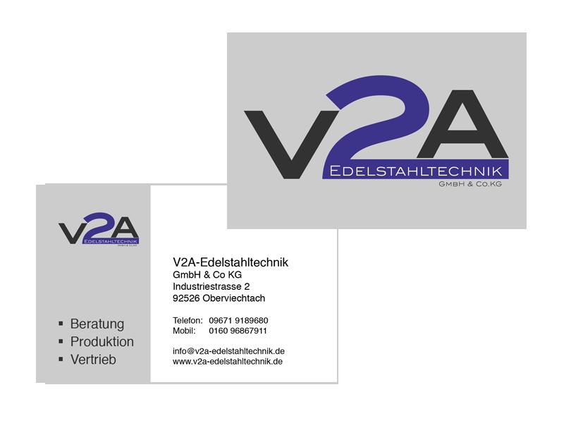 Visitenkarten V2A Edelstahltechnik