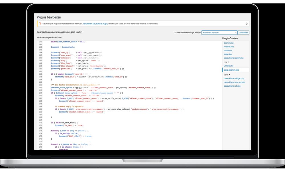 Wordpress Editor Programmierung