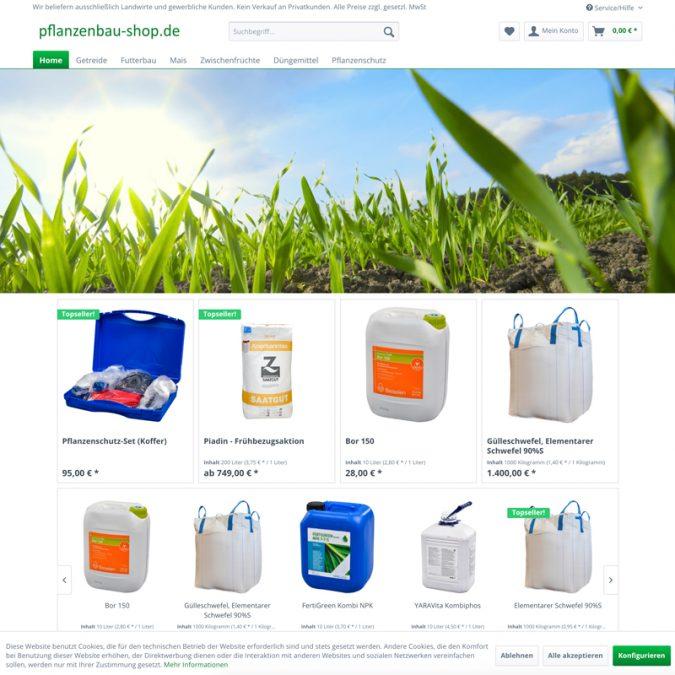 shopware planzenbau-shop.de Startseite